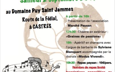 Accueil paysan 81 fête les 30ans du réseau au Domaine Puy-saint-jammes