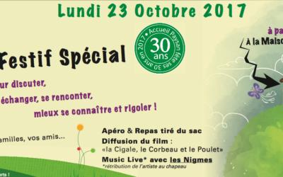 Temps festif spécial 30 ans d'Accueil Paysan dans l'Aude