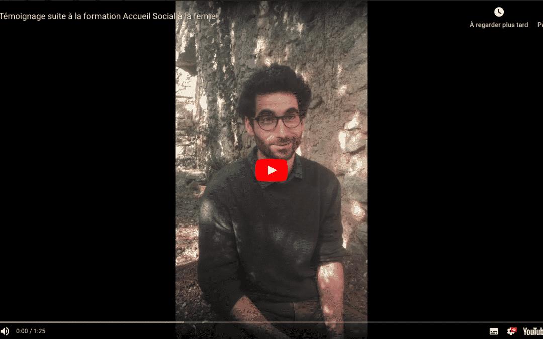 Accueil social, vidéo d'un adhérent qui présente son activité
